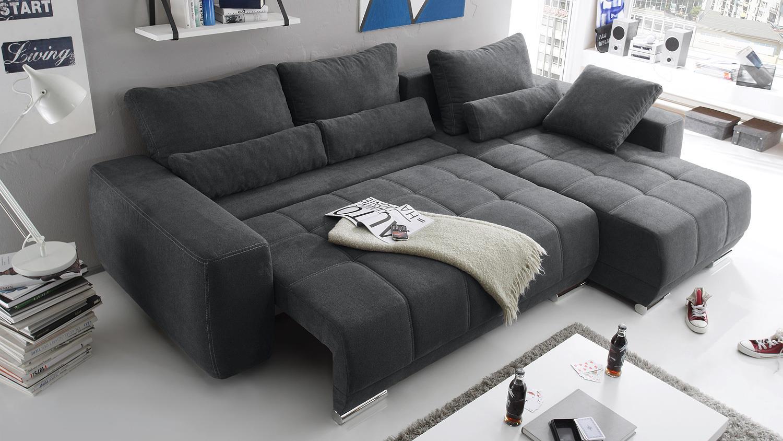 ecksofa lopez sofa wohnlandschaft anthrazit schlaffunktion. Black Bedroom Furniture Sets. Home Design Ideas