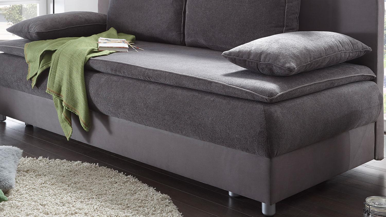 schlafsofa svenja sofa in grau dauerschl fer mit bettkasten. Black Bedroom Furniture Sets. Home Design Ideas