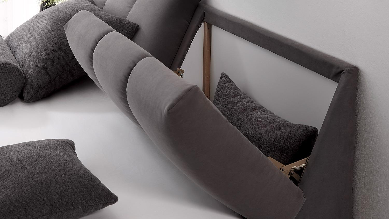 boxspringbett baltimore 1 bett grau dunkelgrau topper 180x200. Black Bedroom Furniture Sets. Home Design Ideas