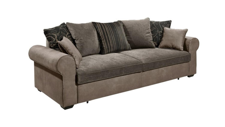 Schlafsofa canyon sofa funktionssofa grau schwarzbraun 253 for Schlafsofa funktionssofa