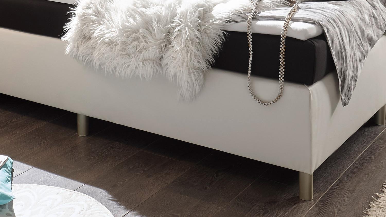 boxspringbett el paso bett wei schwarz mit topper 140x200. Black Bedroom Furniture Sets. Home Design Ideas