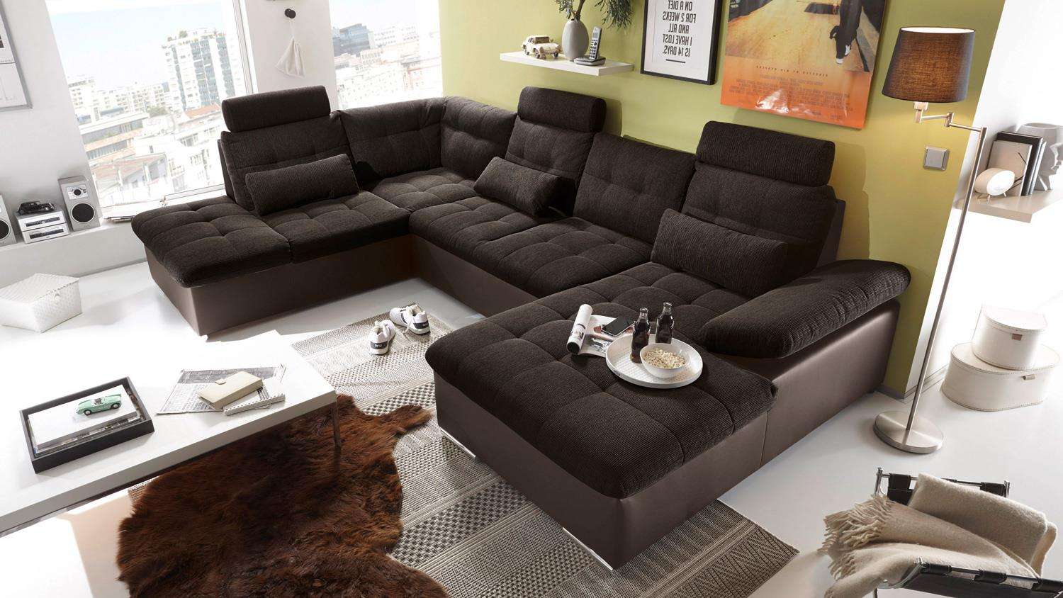 wohnlandschaft links jakarta sofa braun hellbraun funktion. Black Bedroom Furniture Sets. Home Design Ideas