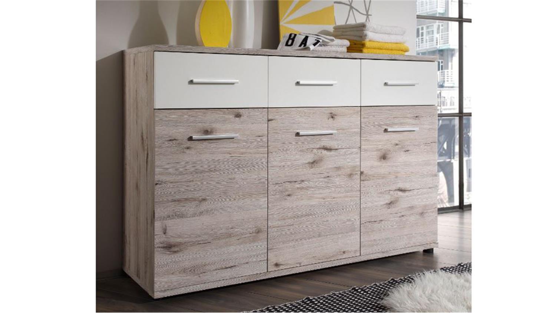 kommode jules in sandeiche und wei. Black Bedroom Furniture Sets. Home Design Ideas