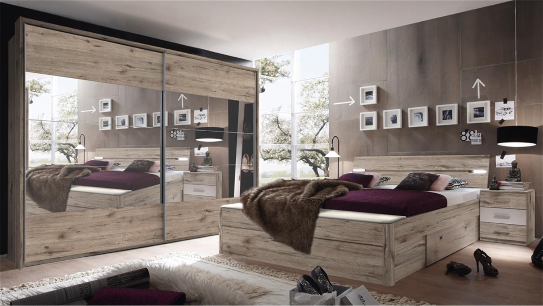schlafzimmer set penta 5 mars xl in sandeiche wei. Black Bedroom Furniture Sets. Home Design Ideas