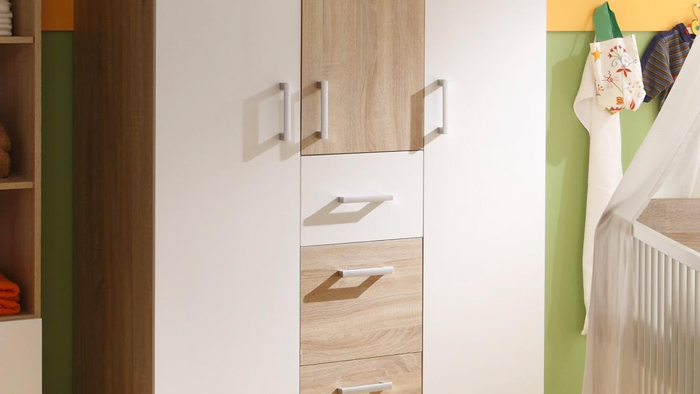 babyzimmer 2 corner kinderzimmer sonoma eiche und wei. Black Bedroom Furniture Sets. Home Design Ideas