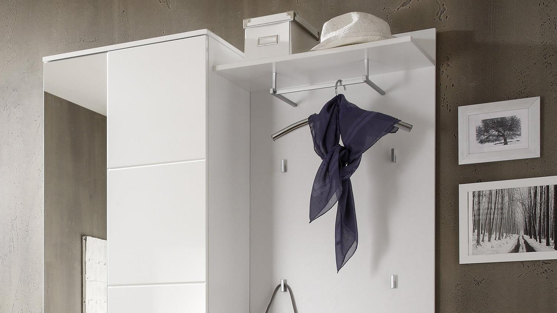 kompaktgarderobe spice set wei hochglanz diele garderobe. Black Bedroom Furniture Sets. Home Design Ideas