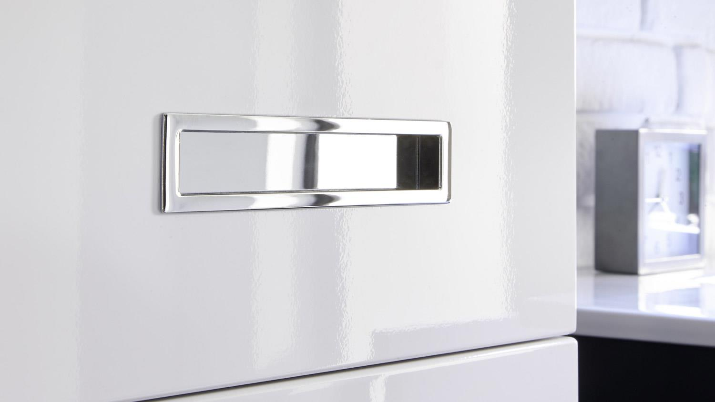 Badezimmer Set Melissa 2 Tlg In Grau Weiß Hochglanz Mit Led Becken