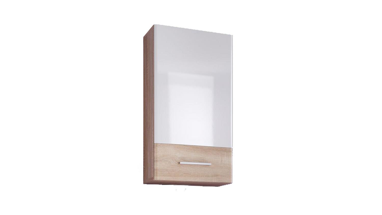 BAROLO Badezimmer Bad Schrank Sonoma Eiche weiß 1-türig