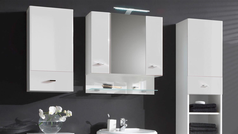 badezimmer set barolo 5 teilig bad schr nke wei hochglanz. Black Bedroom Furniture Sets. Home Design Ideas