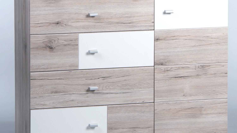 Kommode metri sandeiche wei sideboard 105 cm breit for Sideboard sandeiche