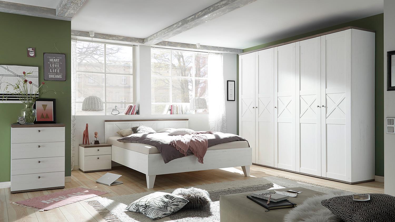 Schlafzimmer stockholm anderson pine trüffel mit softclose