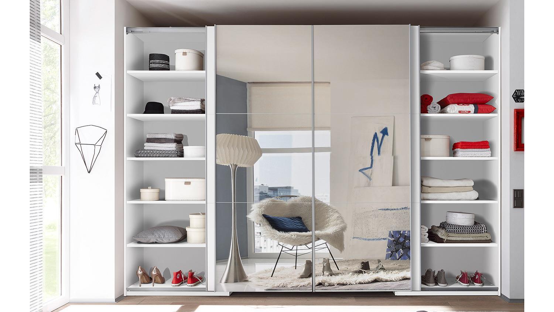 Schwebetürenschrank weiß mit spiegel  BIG begehbar weiß mit Spiegel 315 cm