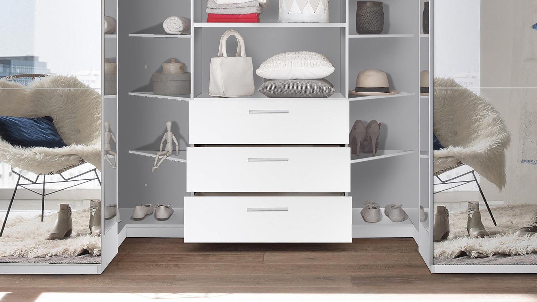 kleiderschrank schwebet renschrank big begehbar wei mit spiegel 315 cm. Black Bedroom Furniture Sets. Home Design Ideas