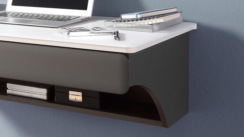 b ro desk schreibtisch paneel kombi mdf wei matt und lava. Black Bedroom Furniture Sets. Home Design Ideas