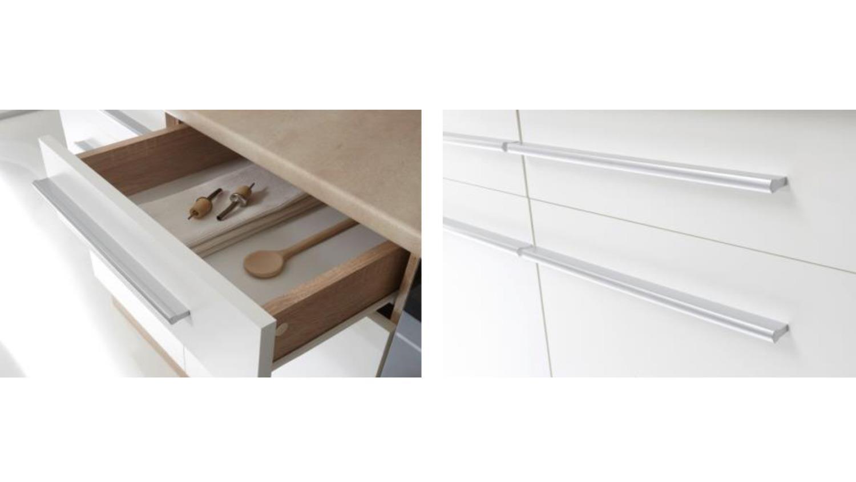 k chenzeile welcome x k che in sonoma eiche und wei matt. Black Bedroom Furniture Sets. Home Design Ideas