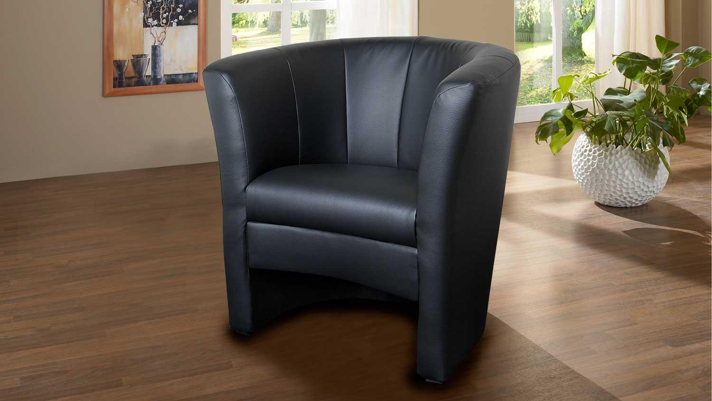 cocktailsessel pele schwarz clubsessel gepolstert. Black Bedroom Furniture Sets. Home Design Ideas