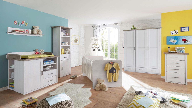 kleiderschrank luca schrank f r babyzimmer pinie wei und tr ffel 148. Black Bedroom Furniture Sets. Home Design Ideas