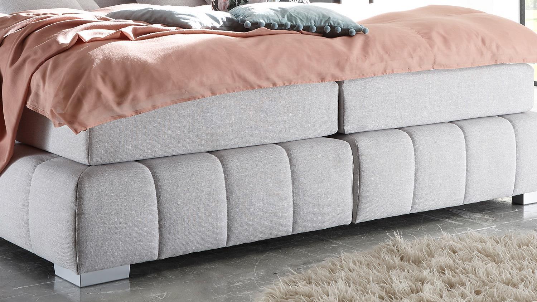 boxspringbett princeton bett in silber grau mit. Black Bedroom Furniture Sets. Home Design Ideas