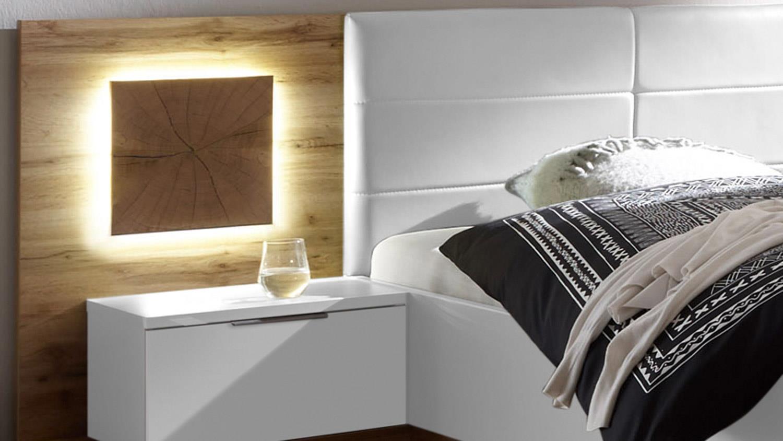 schlafzimmer capri xl set wildeiche wei hirnholz inklusive led. Black Bedroom Furniture Sets. Home Design Ideas