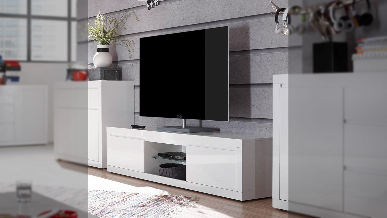 tv board paint lowboard fernsehschrank wei hochglanz lack. Black Bedroom Furniture Sets. Home Design Ideas