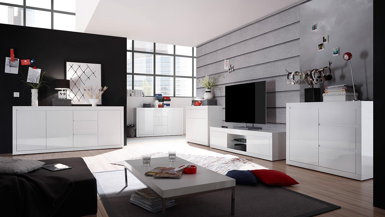 lowboard paint tv board fernsehschrank wei hochglanz lack 180 cm. Black Bedroom Furniture Sets. Home Design Ideas