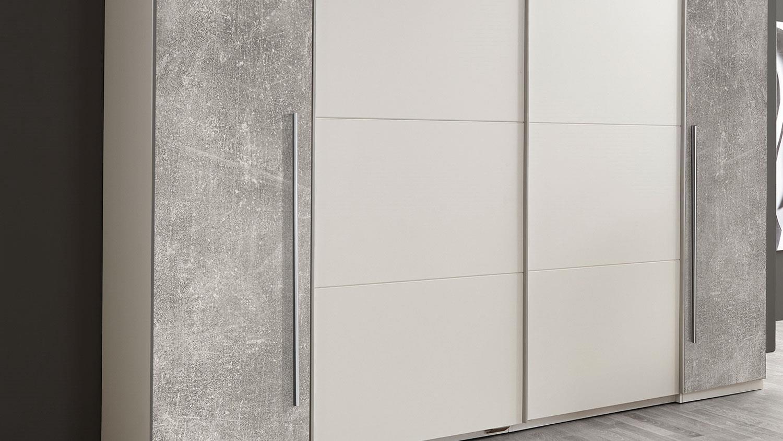 schwebet renschrank match 2 schrank in wei betonoptik 315 cm. Black Bedroom Furniture Sets. Home Design Ideas