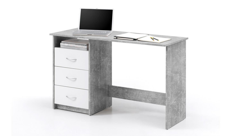 schreibtisch adria computertisch b rotisch arbeitstisch beton und wei. Black Bedroom Furniture Sets. Home Design Ideas