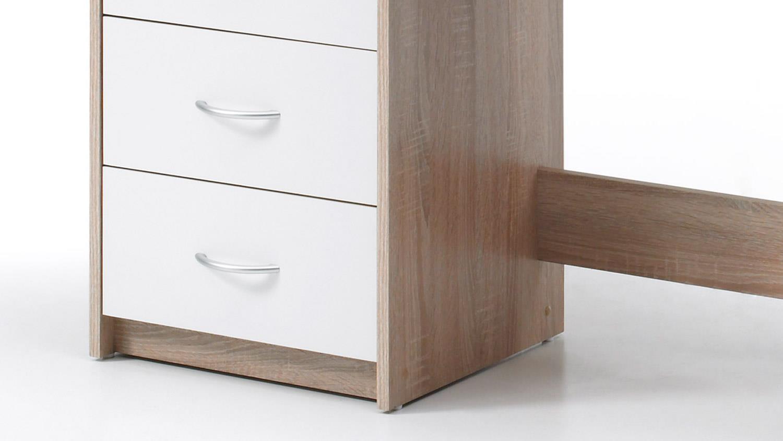 schreibtisch adria computertisch b rotisch tisch sonoma eiche und wei. Black Bedroom Furniture Sets. Home Design Ideas