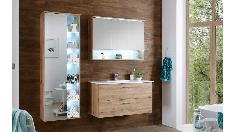 h ngeschrank best wildeiche mit spiegel led beleuchtung und softclose. Black Bedroom Furniture Sets. Home Design Ideas