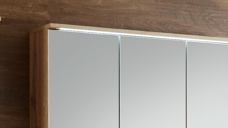 Kleiderschrank mit led beleuchtung - Spiegelschrank 3 turig ...