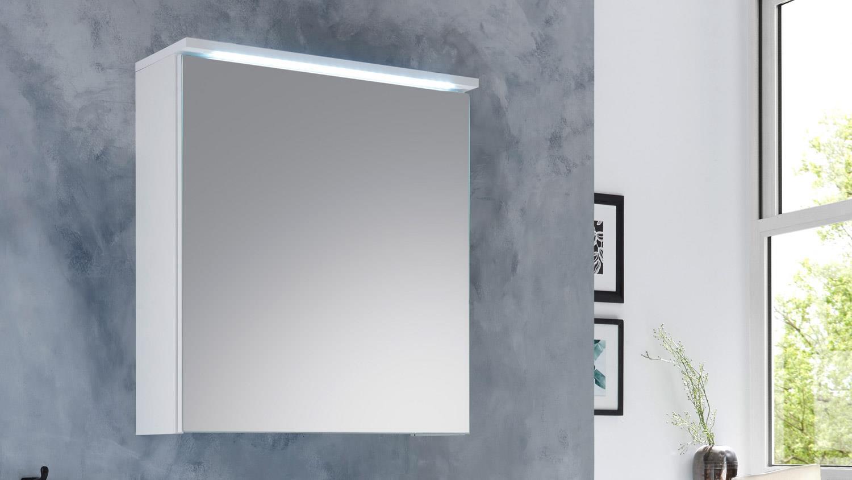 Bevorzugt Spiegelschrank SPLASHI Badmöbel in weiß inkl. LED Beleuchtung 60 cm KL71