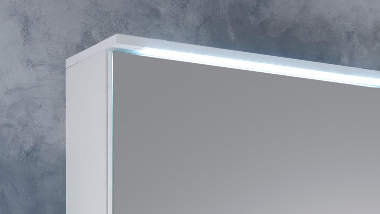 Bevorzugt Spiegelschrank SPLASHI Badmöbel in weiß inkl. LED Beleuchtung 60 cm AG83