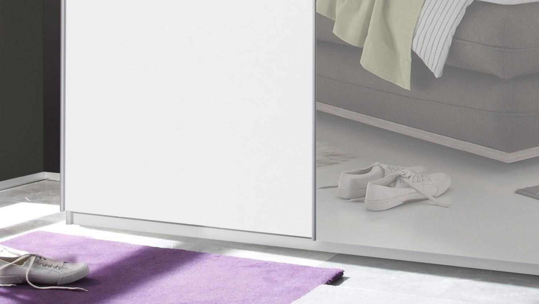 schwebet renschrank victor 2 in wei mit spiegel breite 170 cm. Black Bedroom Furniture Sets. Home Design Ideas