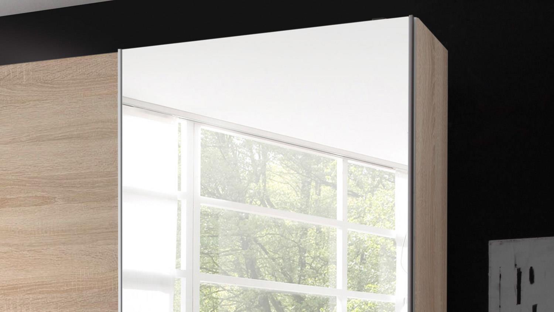 schwebet renschrank victoria 2 in eiche sonoma mit spiegel 170 cm. Black Bedroom Furniture Sets. Home Design Ideas