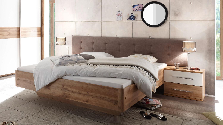 Schlafzimmer BERGAMO in Wildeiche und weiß inkl. Softclose 4-teilig
