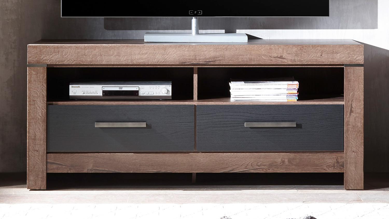 wohnwand anbauwand balin 4 teilig in rustikalem eiche dekor. Black Bedroom Furniture Sets. Home Design Ideas