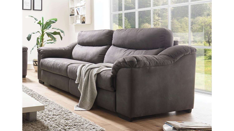 sofa tayler 2 5 sitzer in stoff grau mit massivholzf en. Black Bedroom Furniture Sets. Home Design Ideas