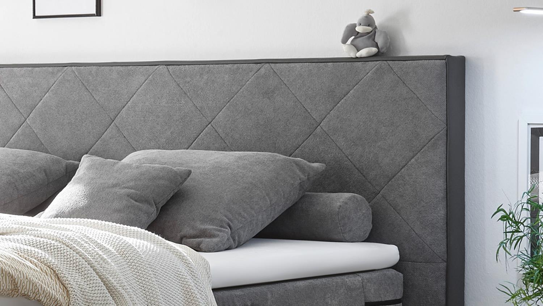 boxspringbett trenton 1 in grau bonell federkern mit motor 180x200 cm. Black Bedroom Furniture Sets. Home Design Ideas