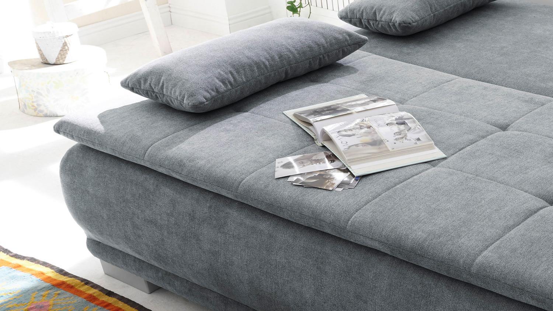 schlafsofa luigi dauerschl fer stoff anthrazit federkern. Black Bedroom Furniture Sets. Home Design Ideas