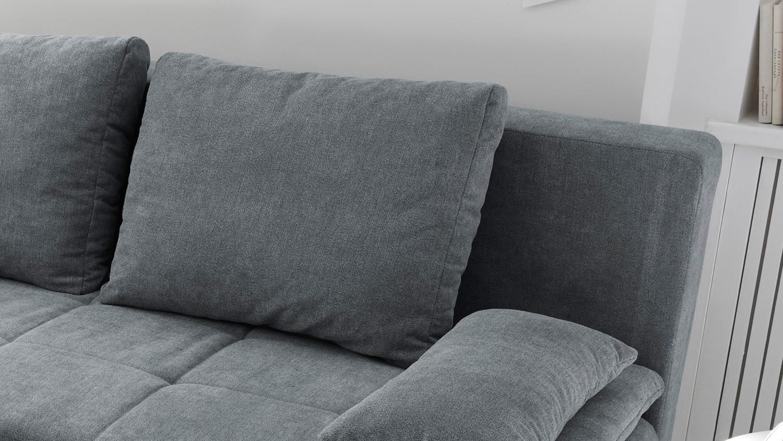 schlafsofa luigi dauerschl fer stoff anthrazit federkern inkl topper. Black Bedroom Furniture Sets. Home Design Ideas
