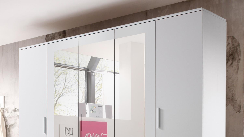 Schlafzimmer STEFAN BOX 5 Bett Schrank weiß Beton 4-teilig 180x200 cm
