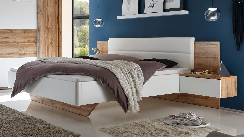 Schlafzimmer San Marino Schrank Bett Nako Wildeiche Weiss Mit Softclose