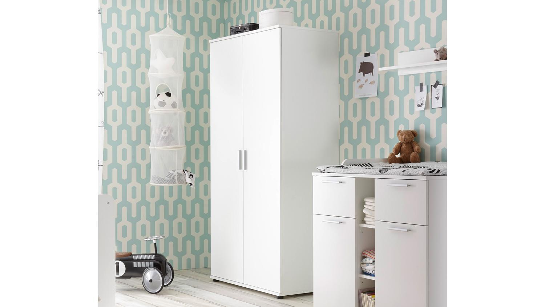 kleiderschrank bibo dreht renschrank 2 t rig in wei 90 cm babyzimmer. Black Bedroom Furniture Sets. Home Design Ideas