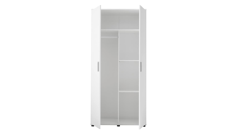 Kleiderschrank BIBO Drehtürenschrank 2-türig in weiß 90 cm Babyzimmer
