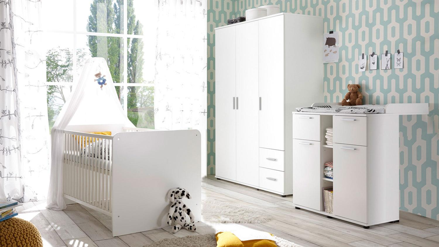 babyzimmer bibo 2 kinderzimmer komplett set schrank bett. Black Bedroom Furniture Sets. Home Design Ideas