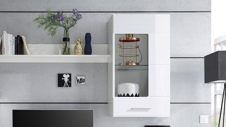wohnwand shot anbauwand wohnkombi wohnzimmerschrank in wei hochglanz. Black Bedroom Furniture Sets. Home Design Ideas