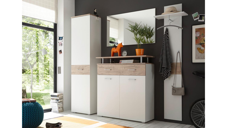 garderobe lift kompaktgarderobe flurm bel wei eiche san. Black Bedroom Furniture Sets. Home Design Ideas