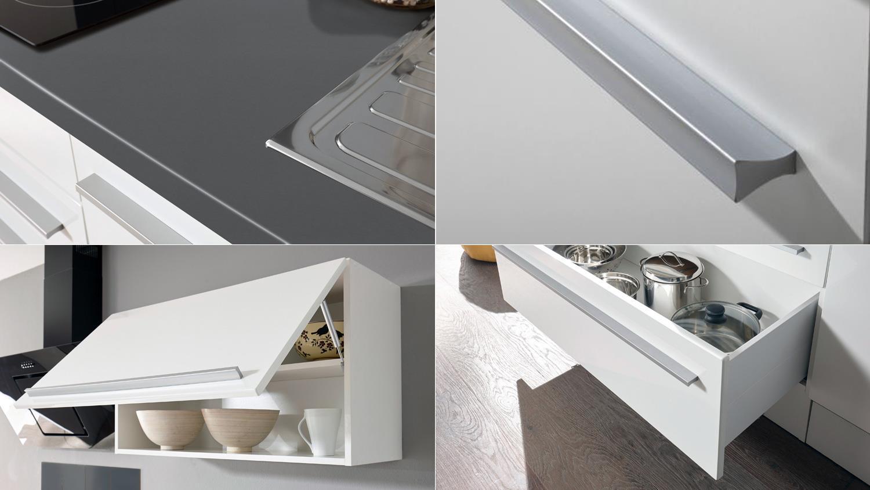 k chenblock jazz 4 k che k chenzeile wei matt hochglanz und anthrazit. Black Bedroom Furniture Sets. Home Design Ideas