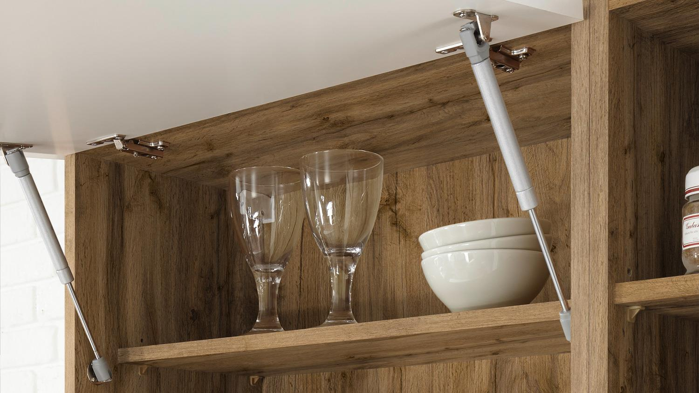 MADEIRA 310 Küche Küchenzeile in Wildeiche weiß 310x205 cm
