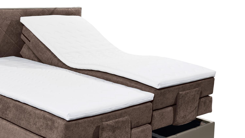 boxspringbett trenton 3 in grau braun 7 zonen ttfk mit. Black Bedroom Furniture Sets. Home Design Ideas